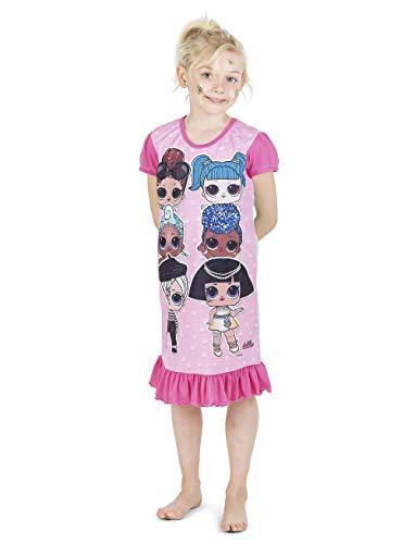 L.O.L Surprise Nachthemd oder Schlafanzug Puppen Confetti Pop für Mädchen LOL Baby Littles (7-8 Jahre, 6 Charakter Nachthemd) -