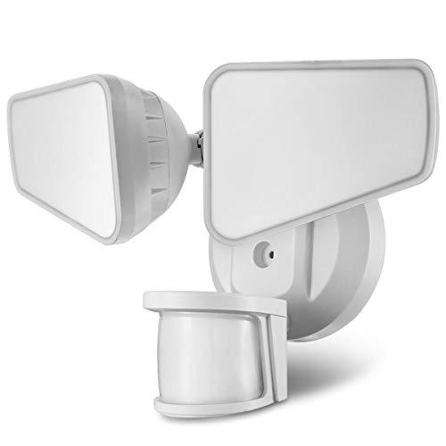 STASUN 32W LED Strahler mit einstellbarem Bewegungsmelder, 240° Erfassungswinkel, 2200LM, 5000K Tageslichtweiß, IP65 Wasserdichtes Flutlicht, Viereckiger Kopf