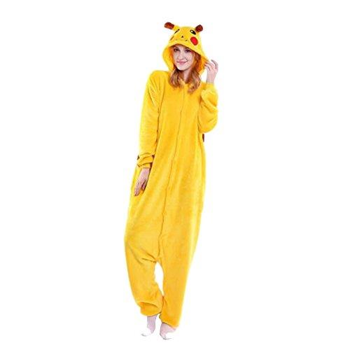 WTUS-Pijama-Halloween-Animales-Pikachu-Ropa-de-Casa-Traje-Divertido-para-Cosplay-Carnaval-Fiesta-de-DisfracesAmarillo