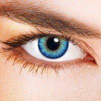 Lentillas De Contacto de Color Triple Tono Azul Cielo (sin corrección)