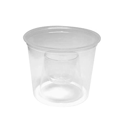 Party Essentials Soft Plastic 50 Count Bomber Cups, 4-Ounce, Clear by Party Essentials