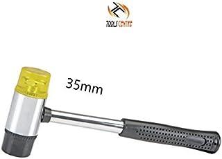 Tools Centre Long Lasting 35mm Double Faced Hammer, Nylon Hammer Head, Rubber Mallet Head.