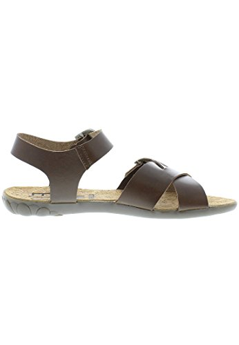 Fly London FLIX Damen Sandalen Dunkelbraun