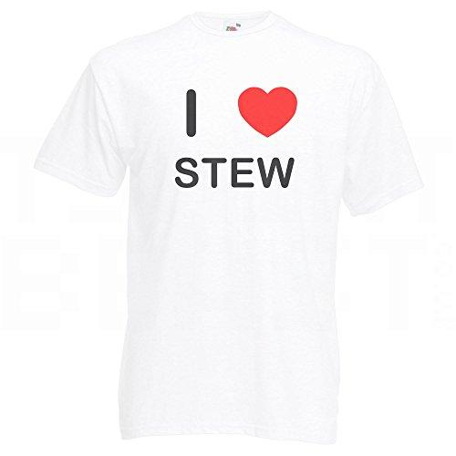 I Love Stew - T-Shirt Weiß