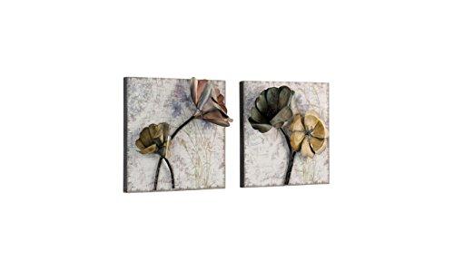 moebel direkt online Wanddekoration _ Wandbilder 2er-Set aus Metall _ Metallbilder