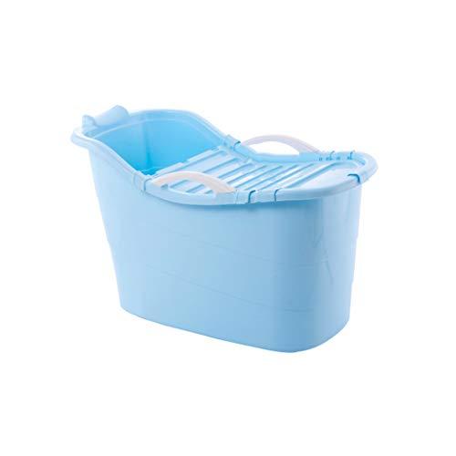 TINGTINGDIAN Faltbarer Kinder-Badekorb Übergroße Badewanne Badewanne Baby Badewanne Kinder Badewanne Kann Badewanne sitzen (Farbe : Blau)