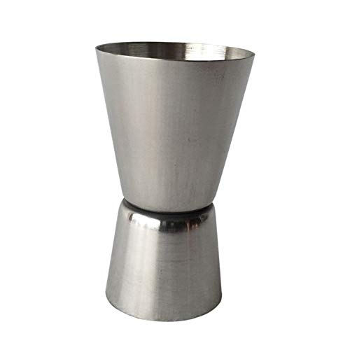 Double Jigger Shot Glas Cocktail Bartender Mixer Messbecher Tragbare Kreative Tasse Silber ()
