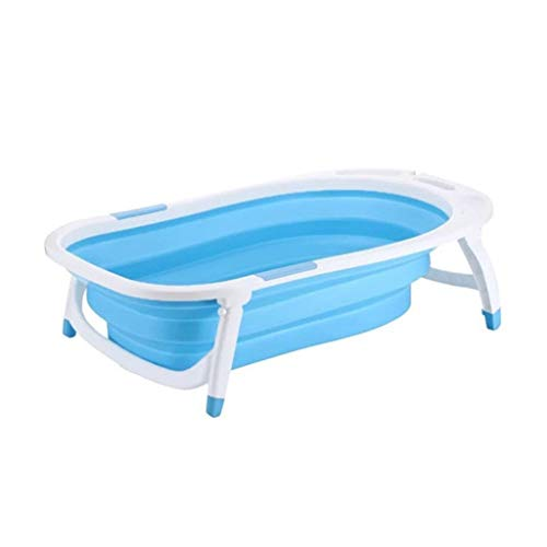 Hundebadewanne, Faltbar Katze Hund Universal Badewanne Medizinisches Bad Speicherbecken Passend Für Klein Mittlere Hunde Töpfe (Farbe : Blau)