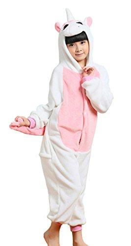 Cliont Kinder Tier Licorne Pyjamas Kigurumi Nachtwäsche Kostüm Anime Cosplay Halloween Weihnachten Unicorn (Kostüm Mann 2 Esel)