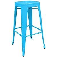 RegalosMiguel - Taburete Industrial Torix Azul (Inspirado en la Línea Tolix)