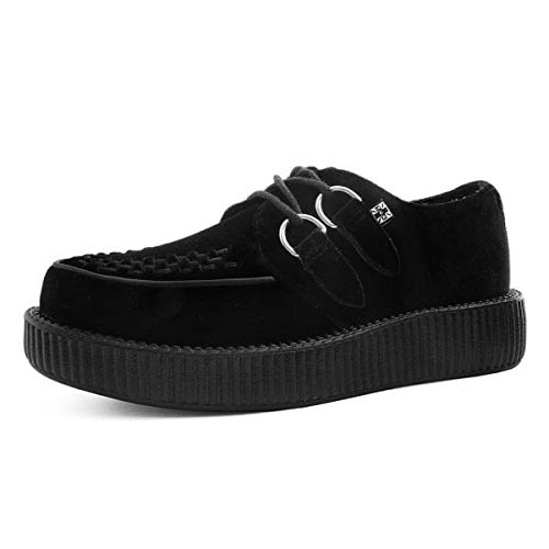 T.U.K. Shoes Men Es Damen Viva Low Creeper Black Velvet EU39 / UKW6
