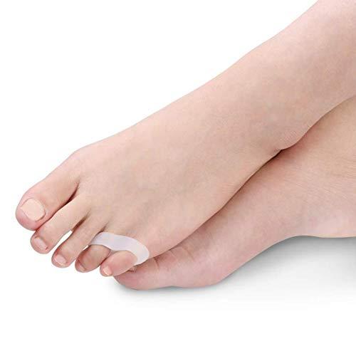 ZENGZHIJIE Separadores de Gel - Alivio del Dolor por Deriva - Esparcidores for superposición, Hallux Valgus, Pies diabéticos - Espaciadores de Dedos Grandes - Protector de fricción de Zapatos