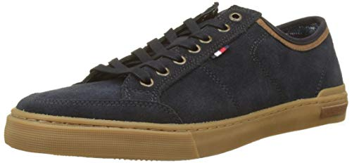 Tommy Hilfiger Herren CORE Suede LACE UP Sneaker, Blau (Midnight 403), 41 EU Lace Up Suede Sneakers