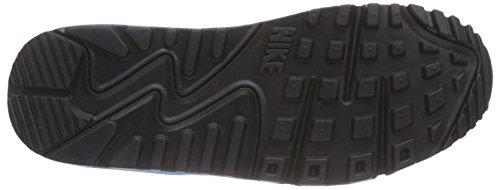 Nike Unisex-Kinder Air Max 90 Mesh (Gs) Low-Top Schwarz (004 BLACK/BLUE LAGOON-DARK GREY-WHITE)