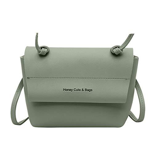 POTOU Damenmode Messenger Bag Casual Umhängetasche Einfarbige Tasche Cute Wind