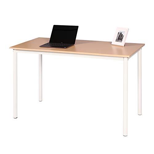 Llivekit Büro Computer Schreibtisch Holz Bürotisch Arbeitstisch PC Laptop Studiertisch Workstation Gaming Desk für Heim und Büro (Hell Eiche) - Eiche Hell Büro