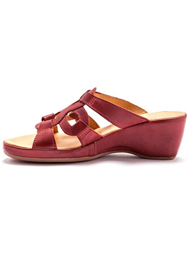 Balsamik - Mules compensées cuir à aérosemelle® - femme Rouge