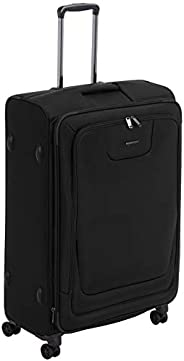 AmazonBasics Expandable Softside Spinner Luggage Suitcase With TSA Lock And Wheels - 29 Inch, Black