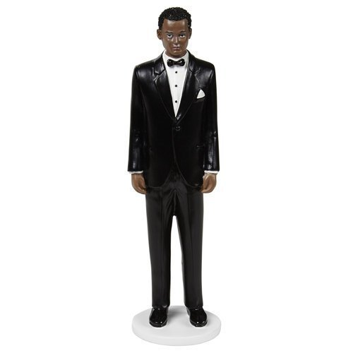 Groom Wedding Topper (Curly Hair) by Cake Topper