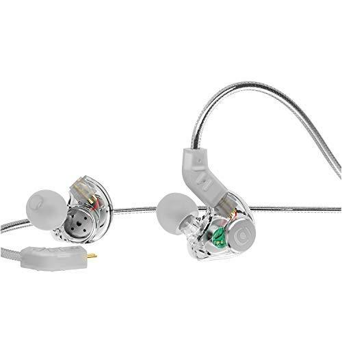 In Ear Monitor, Adorer IM8 Universal-Fit In-Ear Kopfhörer mit Mikrofon, Geräuschunterdrückung und Austauschbares Kabel