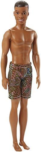Barbie DWK07 Beach Ken Puppe mit braunen Shorts
