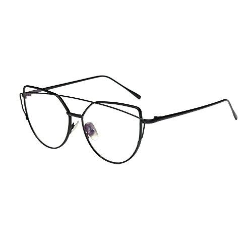 Flache Sonnenbrille Damen UFODB Glasses Für Herren Frauen Schick Klassische Retro Platz Polarisiert...