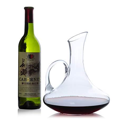 Gonfleur à Vin Avec Décanteur Pour Bouteilles Fast Creative Classic de 1,5 L - Verre En Cristal Sans Plomb Soufflé à La Main à 100%, Carafe à Vin Rouge, Bouteille de Whisky, Cadeaux de Vin, Accessoire