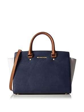 Michael Kors Handbag Hand Handle Lg Tz Satchel Blue Size: one Size