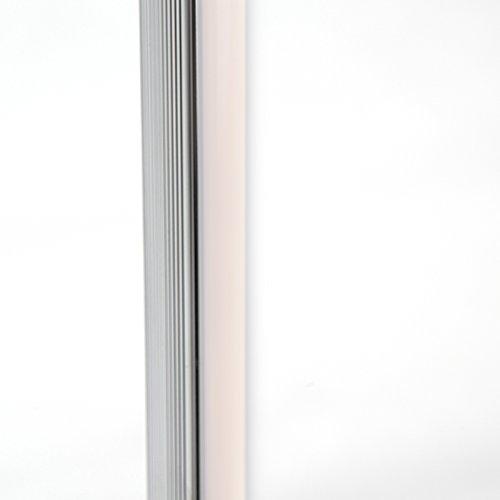QAZQA Modern Stehleuchte / Stehlampe / Standleuchte / Lampe / Leuchte Line-up LED Chrom Dimmer / Dimmbar / Innenbeleuchtung / Wohnzimmer / Schlafzimmer / Küche Kunststoff / Metall / Rund inklusive LED - 5