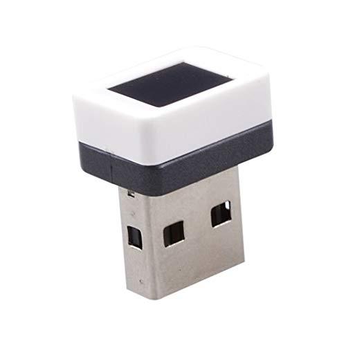 XZANTE USB Dongle Fingerabdruck Leser Laptop Fingerabdruck Identifikation Windows Hallo Presse Multi Biometrische Sicherheit Schluessel Verschluesselung Fuer Win 7/8/10(Weiss) - Biometrischer Laptop-sicherheit