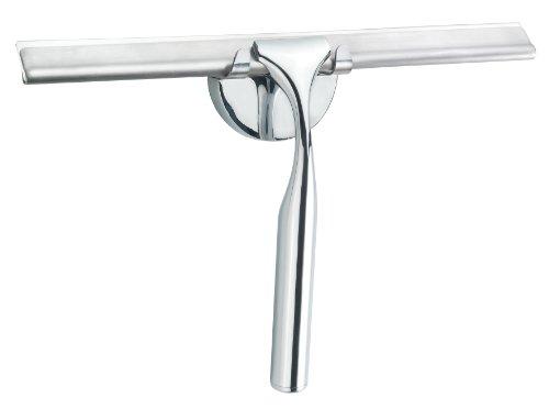 CON:P SA119 - Rasqueta cromada para ducha con soporte para pared