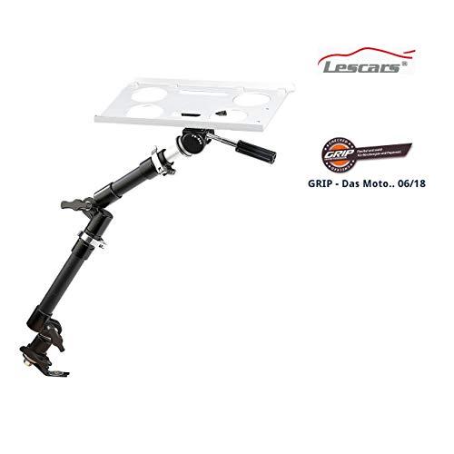 Lescars Laptop Halterung: Universal-Notebook-Kfz-Halterung mit Kamerastativ (Kfz Laptophalterung)