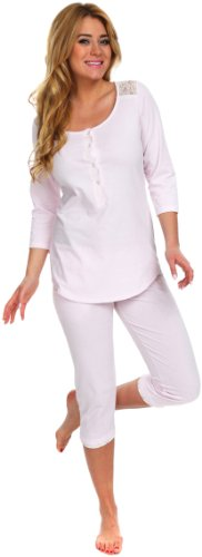 Italian Fashion IF Damen Pyjama Chic 0222 Rosa