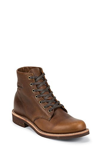 Chippewa 1901M26 uomo in pelle stivaletti con suola Vibram V-Bar in sughero - Marrone, 11,5 US-44,5 EU