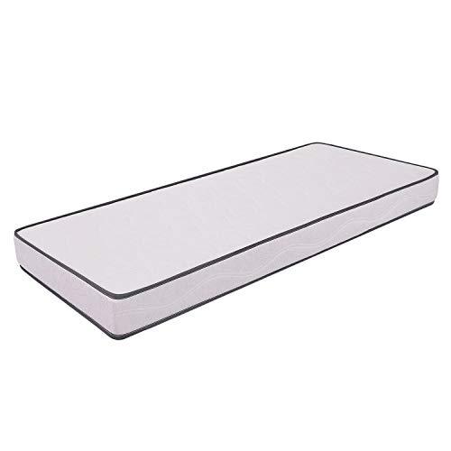 MiaSuite Primavera H12 - Colchón para cama, poliuretano, Blanco, 90 x 190 cm