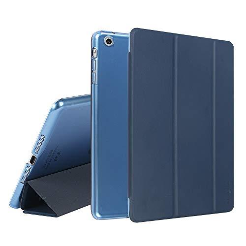 MTRONX für Apple iPad Mini Hülle, iPad Mini 3/2 / 1 Hülle, Magnetverschluss Auto Schlaf/Wachfunktion, Ständer Funktion Schutzhülle, Stand Etui Smart Cover -Dunkel Blau(FB-DB)