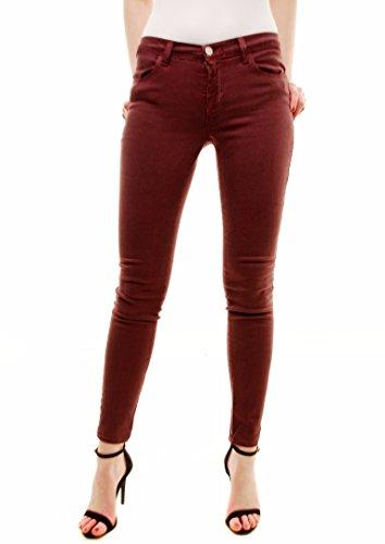 J Brand Jeans Maigre pour Femmes 620O222 Bordeaux