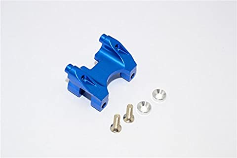 Traxxas Revo, Revo 3.3, E-Revo Upgrade Pièces Aluminium Rear Damper Mount With Counter Sink Washers & Screws - 1Pc Set Blue