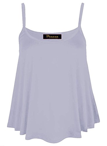 Fashion Lovers - Canotta - Basic - Collo a U  -  donna Noir - Blanc