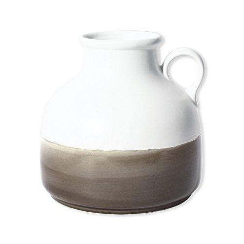 Bruno Evrard Vase en céramique Blanc et Beige 20cm - Fedora