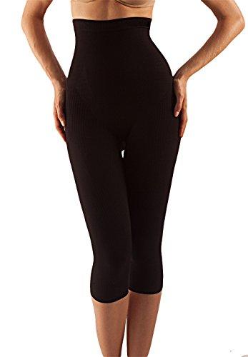 Farmacell 323 (nero, l/xl) pantaloncino lungo modellante e massaggiante effetto pushup e anticellulite