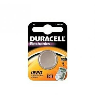 Duracell 1620 Lithium 3 V Non-Rechargeable Battery - Non-Rechargeable Batteries, Button/Coin, 3 V, Lithium (CR1620, 75 mAh, Stainless Steel)