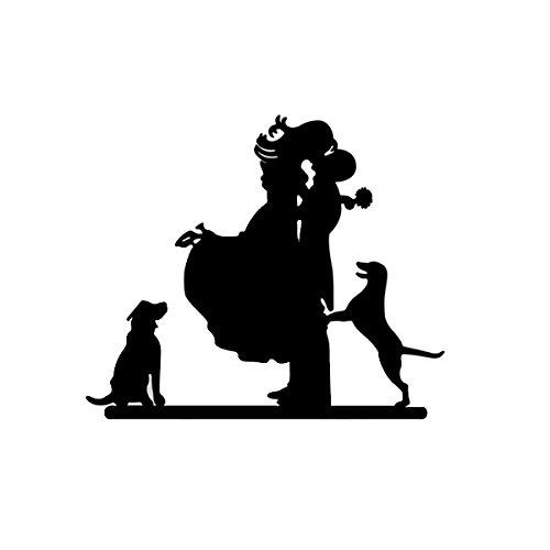 VORCOOL novia y novio con silueta de perros decoración para tarta para...