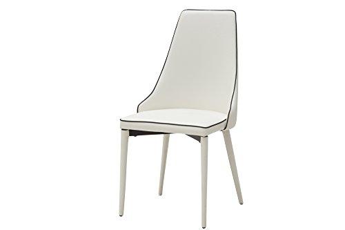 White loft, set di 2 sedie, metallo, bianco, 50x58x94 cm