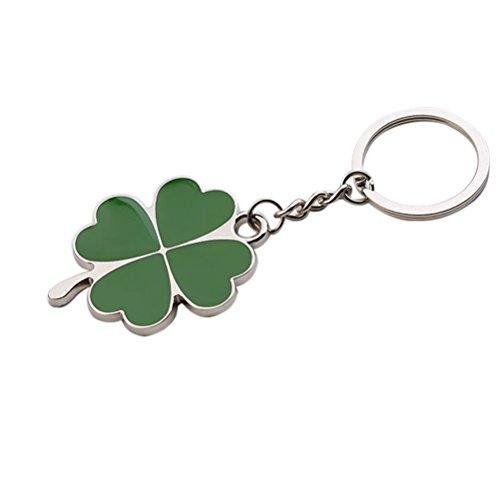 luoem Geschenk Schlüsselanhänger Ring Lucky Kleeblatt Fortune Schlüsselanhänger Shamrock Sparkling Charm Schlüsselanhänger St. Patrick Day Geschenk