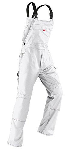 Kübler Inno Plus Uni-Dress weiß Arbeitshose Gr. 62 / Latzhose /Diensthose