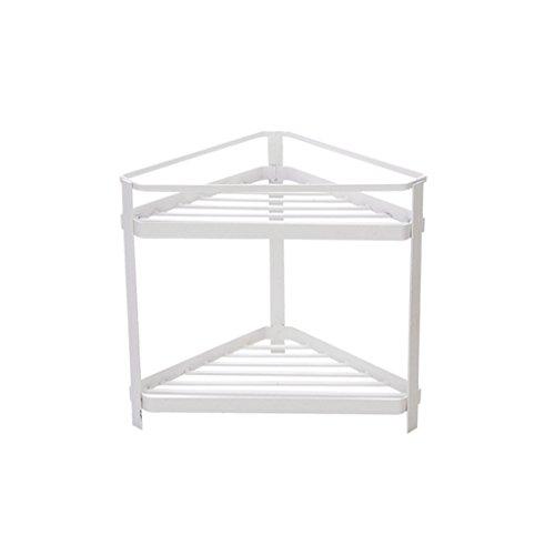 Einfache Linien 2-Tier-Lagerregale Weiß Badezimmer Toilettenartikel Collation Frame Küche Gewürzregal Dreieck Carbon Steel Lagerregal