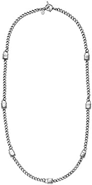Micheal Kors Necklace for Women, Silver, MKJ3725040