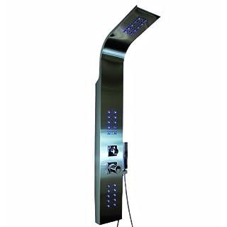 LED BELEUCHTETES EDELSTAHL DUSCHPANEEL AquaSin 9304-L MIT KOMBI REGEN-/ WASSERFALL