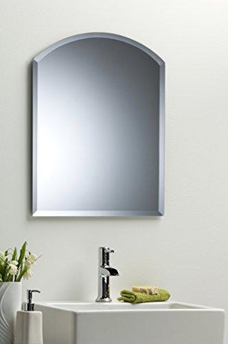 Arco bagno specchio da parete moderno con bisello Tinta Unita 2 ...